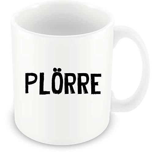 Tasse mit Plörre Druck Geschenk Kaffee Liebhaber Bürotasse