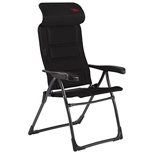 Crespo Silla de Camping Compact Air Deluxe Negro