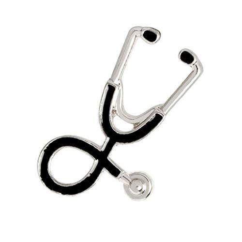 Stethoscoop broche emaille pin Unisex cartoon pin pinnen, stethoscoop broche, knop pin, denim cartoon revers pin knop badges tas jeans decoratie
