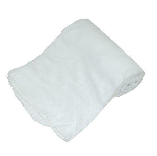 Belle couverture polaire douce pour landau pour bébé fille et garçon, couleur ivoire.