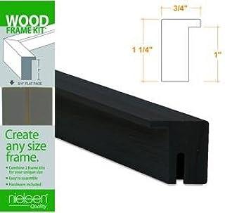 Nielsen Bainbridge-Holz Rahmen Kits Schwarz 10 in. B000KNJJ1I  Einzigartig
