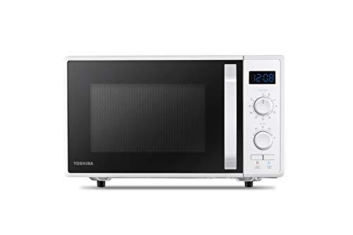 Toshiba MW2-AG23P(WH) 3-in-1 Forno a Microonde con Grill e Cottura combinata, 23 L, Piatto Girevole con Memoria di Posizione, Timer, Luci LED Integrate, 900 W, Grill 1050 W, Programma pizza, Bianco