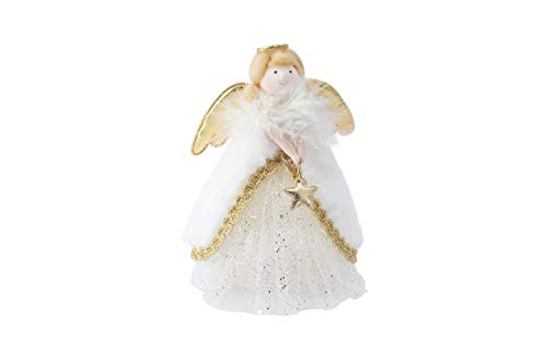 CGB Giftware GB03832 - Puntale per albero di Natale a forma di angelo, colore: oro