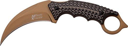 MTech USA XTREME MX-8140 Outdoormes, handvat met grip, zeer scherp tactisch mes, survivalmes 10,1 cm roestvrij, vast karabijnmes, zakmes voor jagen/militair/camping, 340gr