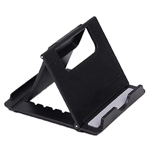 FeelMeet Titular 1pc Universal de Escritorio Plegable Multi-ángulo Tabla plástico del Soporte Multi usos Soporte withor Compatible teléfono de iPod del iPhone y la Tableta (Negro)
