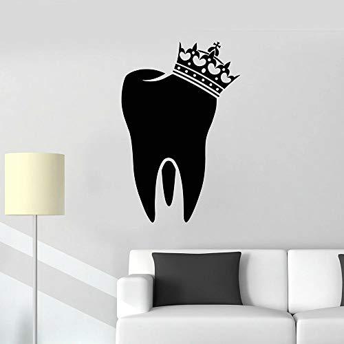 HGFDHG Habitación de los niños decoración Dental Corona Dental Pegatinas de Pared Dentista Cuidado Personal Vinilo clínica Dental Tienda Pegatinas de Ventana