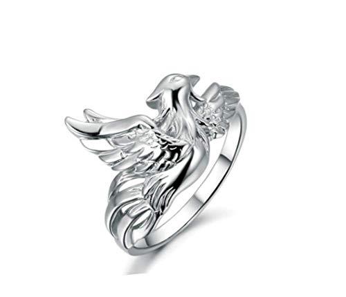 ZXH s925 Silber Retro Schmuck Männer Eröffnung All-in-Einem Sterling Silberring Bully Bully Phoenix Ring Trend Männer Ring