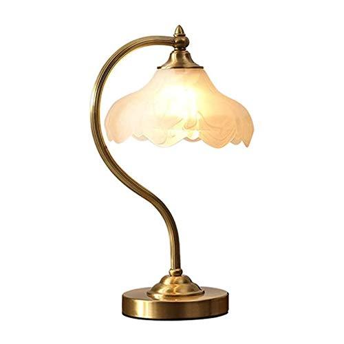 Sqqslzy Iluminación de estilo europeo Lámpara de mesa Dormitorio Sala de estar Chica Escritorio Cálido Lámpara de cama Arte