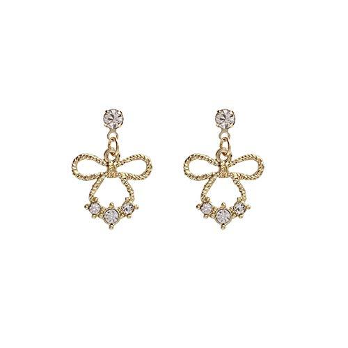 Yhhzw Pendientes De Diamantes De Imitación De Bowknot De Hadas Pendientes De Gota Brillantes Mori Girls