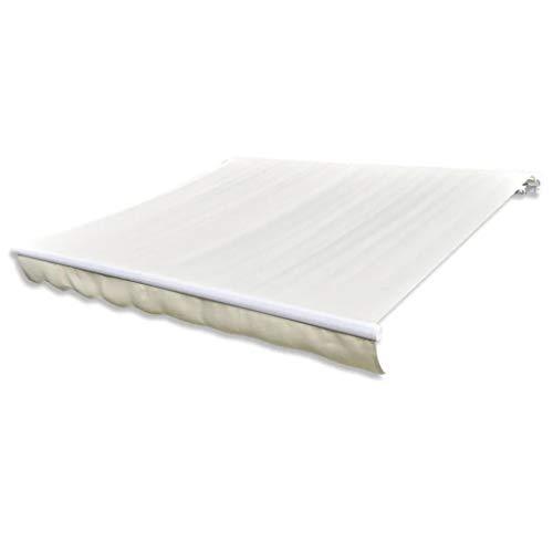 Cikonielf Telone rettangolare 4 x 3 m, senza telaio, resistente ai raggi UV, copertura di ricambio per patio, terrazza, giardino