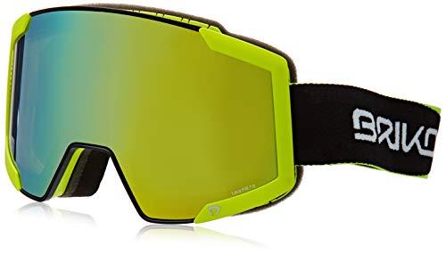 Briko Lava Fis 7.6 2 Lenses Unisex-Brille für Erwachsene Einheitsgröße C74M Bl/Yellow Fl/Ym2P1