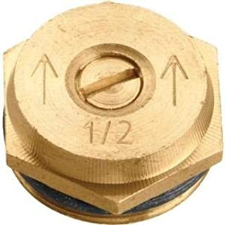 Orbit 3 Pack (6 Total Nozzles) 15 Foot Radius Spray Half Pattern Brass Sprinkler Nozzle Male Thread - 2 Pack