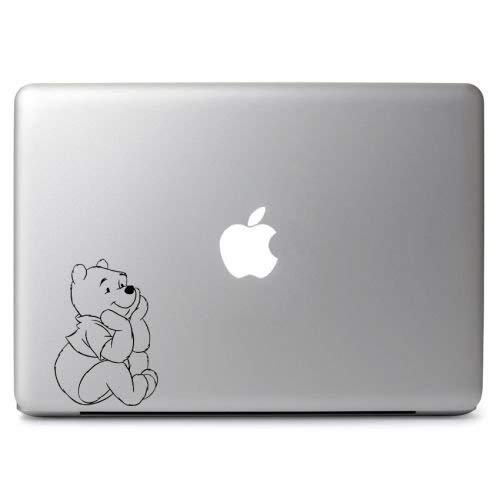 Winnie Pooh Watch Apple Vinyl Sticker Decal, Die Cut Vinyl Decal for Windows, Cars, Trucks, Tool Boxes, laptops, MacBook - virtually Any Hard, Smooth Surface