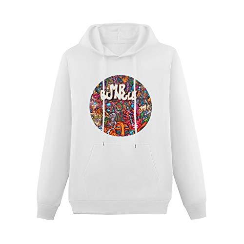 convida Teenager HoodedTop Popular New Mr. Bungle Logo Cotton Long Sleeve Sweatshirts White XL