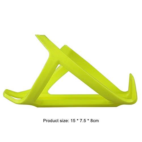 Sostenedor de botella de bicicleta Botella de agua de la bicicleta de la jaula ciclo al aire libre anti-resistencia Reparación Soporte de soporte de plástico accesorios de la bici ( Color : Yellow )