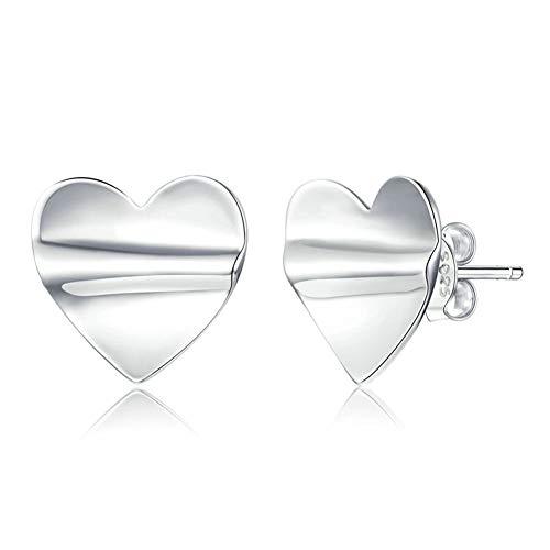 HMMJ Damen-S925 Sterling Silber hypoallergen Plissee Herz Pandora Ohrstecker