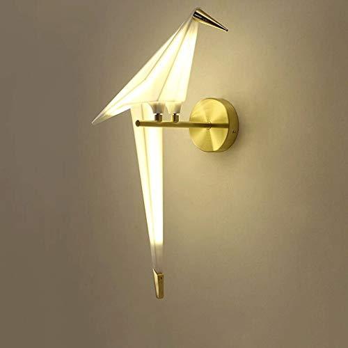 NZDY Moderno Simple Lámpara de pared de una sola cabeza Sala de estar Tema Restaurante Bar de ocio Dormitorio personalizado Pájaro Pájaro Lámpara de pared de papel Origami Lámpara de pared creativa L