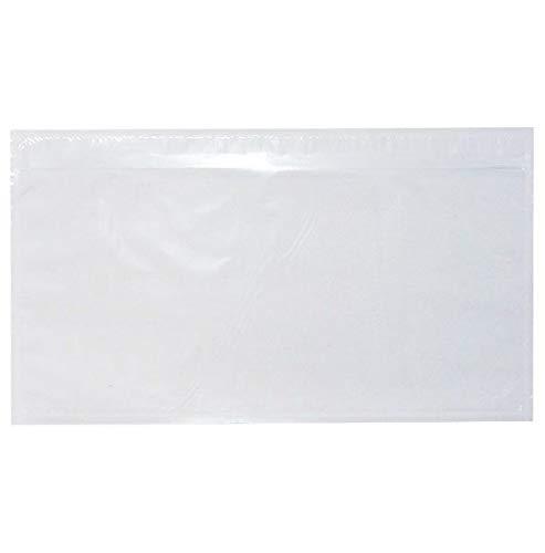 50x TPS247 Lieferscheintaschen - Dokumenttaschen DIN Lang transparent selbstklebend (50)
