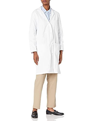 Fashion Seal Healthcare Women's Knot Button Lab Coat, White, Medium