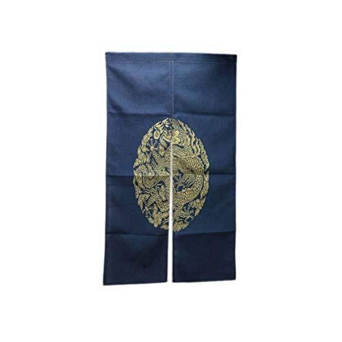 lachineuse NOREN Traditionnel Bleu - Motif Dragon Asiatique