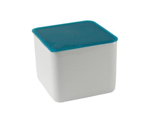 Arzberg-Porzellan 3330/09982/3920 Boîte Haute pour Conserver Les Aliments avec Couvercle en Plastique Turquoise 15 x 15 c