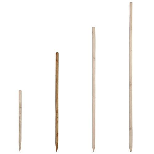 Holzstab für Rosenkugeln Gartenkugeln in verschiedenen Längen aus massivem Holz - Stock Stab für Dekokugeln Kugel Dekoration - Rosenkugelstab für die Befestigung der Kugel (80 cm)
