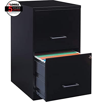Lorell 14340 18 Deep 2-Drawer File Cabinet, Putty