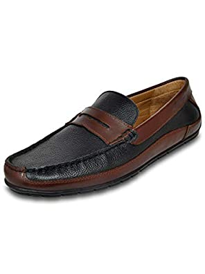 Allen Cooper Men's Genuine Leather Loafers