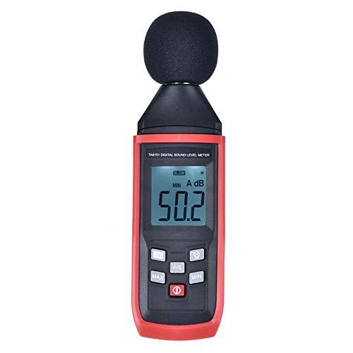 Medidor de nivel de sonido, medidor digital de decibelios con rango de 30-130 dBA, detector de decibelios dB con retroiluminación LCD automática, para medir el ruido en el hogar, la oficina