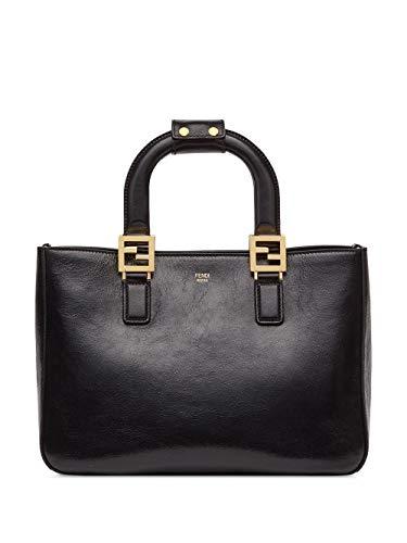 Luxury Fashion | Fendi Dames 8BH367A9Y0F0KUR Zwart Leer Handtassen | Lente-zomer 20