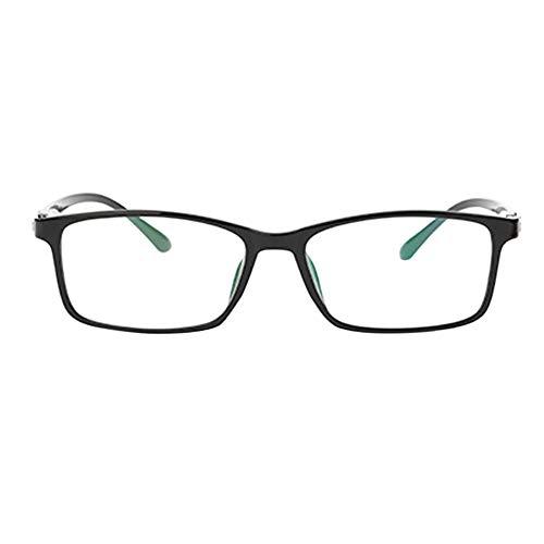 Qduoduo Ultraligero Negro Marco Miopía Anteojos, Mujeres Hombres Miopes Ojos Gafas Miopes Goggles Vidrios Eyewear -1.50 Strength