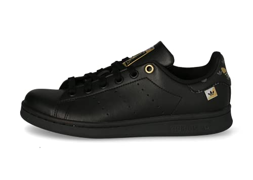 Adidas Stan Smith - Scarpe da ginnastica da donna, colore: Nero e Oro, Nero , 37 1/3 EU