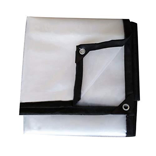 LIANGJUN Bâche De Protection Le Polyéthylène Anti-oxydation Antipoussière Imperméable Transparent Maintiennent Chaud Personnalisable, 16 Tailles (Couleur : Clair, Taille : 3.8m×3.8m)