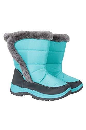 Mountain Warehouse Botas para la Nieve con Adornos de Piel para niños Caribou - a Prueba de Nieve, Forro Polar - para Mantener los pies de Sus niños Calientes en Invierno