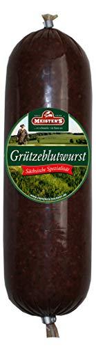 Grützwurst & Semmelleberwurst Omas Pfanne | DDR Rezeptur Tiegelwurst | Black Pudding | laktosefrei (Grützwurst, 400g)