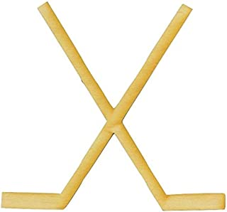 Wooden Crossed Hockey Sticks Cutout/Package of 10