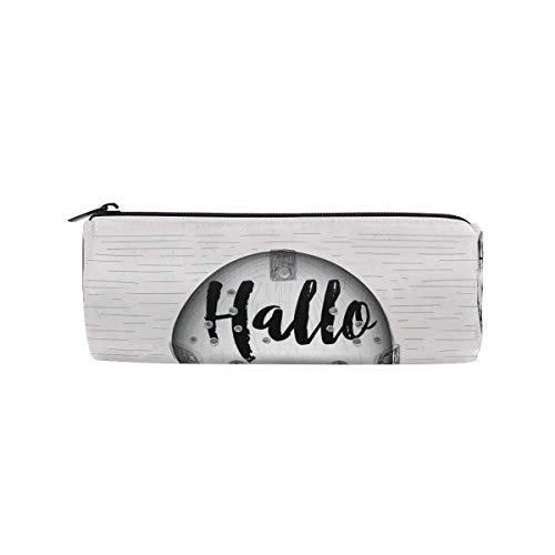 RGFDF Halloween-Maske zylindrische Bleistiftetui Stifttasche, multifunktionale Schreibwaren Tasche Reißverschlusstasche Student Zip Bleistifthalter Tasche Geschenk Reise Make-up Tasche