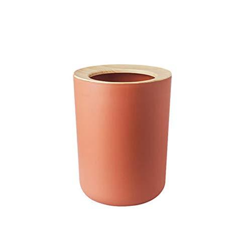 CAOLATOR Papelera de Oficina Papelera Circular de el plastico Papelera Usado en Oficina, Hogar, Escritorio-Naranja