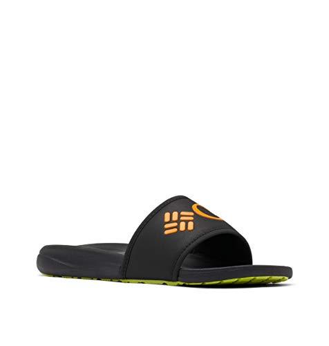 Columbia Women's Slide Sport Sandal, Black/Solar, 7
