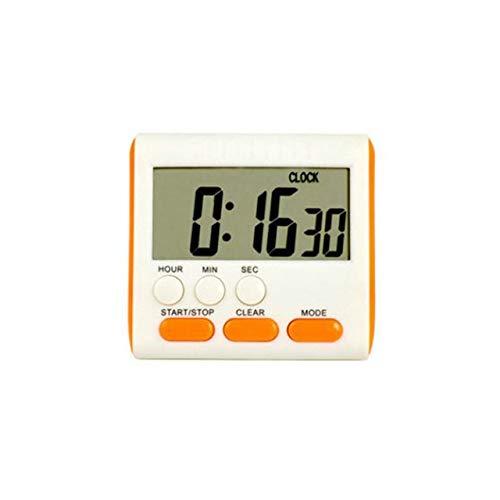 Magnetische Großer LCD-Digital-Küche-Timer mit Lauten Alarm-Count-Up & Down Uhr 24 Stunden 3A Batterie Küchenuhr (Color : Orange)