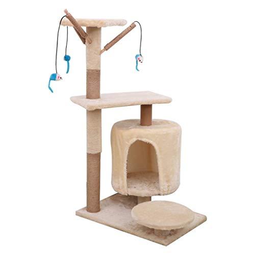 Torre de gato árbol de gato Árboles de actividades para gatos - Torre Gato con sisal arañar puestos perchas Casas Cat Cat árboles columpio Juego del gatito Casa Condominio para gatos de varios niveles