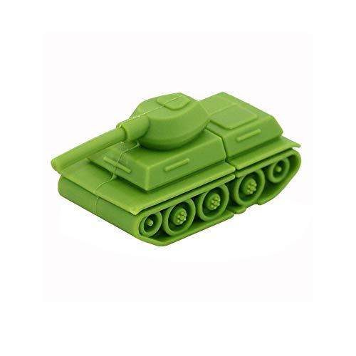 16G USB 2.0 Flash Drive, Green Tank Design Memory Stick Pen Drive Thumb Drive for Data Storage - Civetman