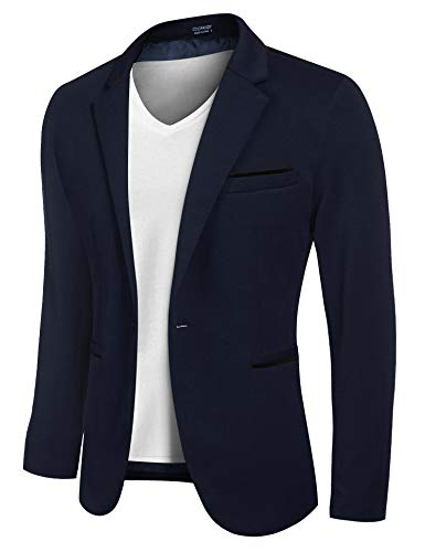 COOFANDY Men's Fashion Blazer Slim Fit Lightweight Jackets Suit Coat Spring