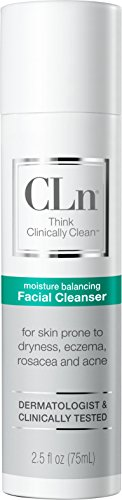 CLn Facial Cleanser - Sensitive Skin Facial Cleanser, For Skin Prone to Dryness, Eczema, Rosacea, and Acne - Designed for the Delicate Skin of The Face, (2.5 Ounces)