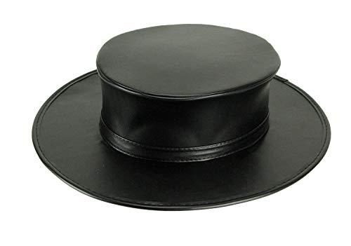 Plague Doctor Black Leather Look Top Hat - Adult Costume Halloween Accessories