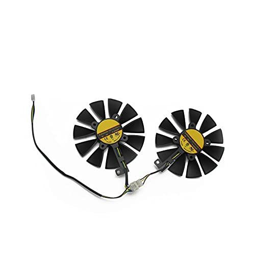 88mm FDC10U12S9-C RX580 RX570 RX470 4pin Fan de Enfriador de 4pin para Arez ASUS Radeon RX 470 570 570 580 Expedición OC Tarjeta de gráficos Fan de enfriamiento (Blade Color : 2PCS)