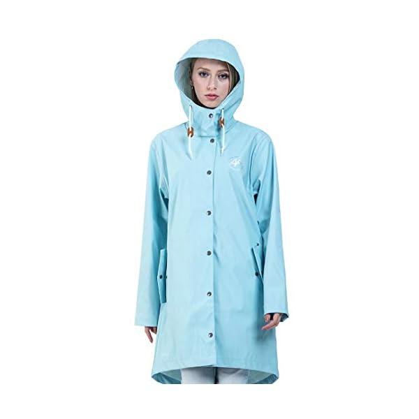 Andes Forest Women's Raincoat with Hood Lightweight Windbreaker Rain Jackets