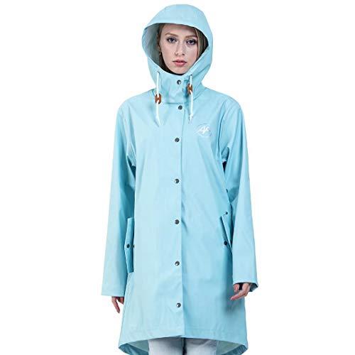 Andes Forest Women's Raincoat with Hood Lightweight Windbreaker Rain Jackets Haute Red