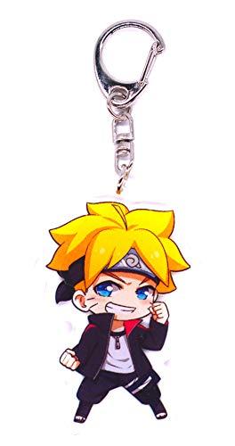 Anime Domain Llavero de Naruto con Figura Chibi(Uzumaki...