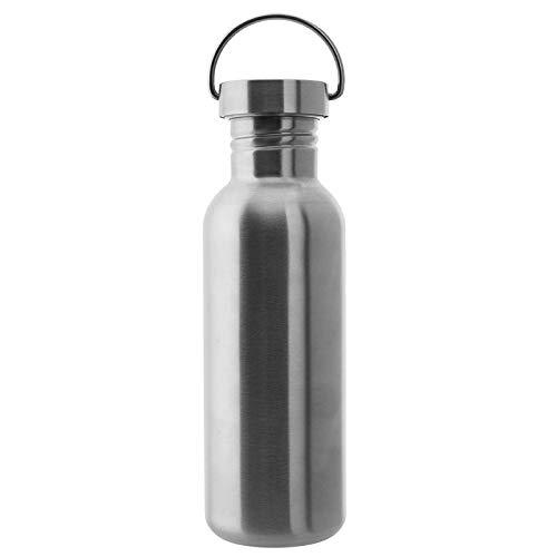 Laken Basic Botella de Acero Inoxidable con Tapón de Rosca Acero y Boca Ancha, 0,75L Acero